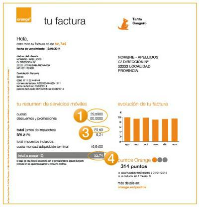 factura movil orange
